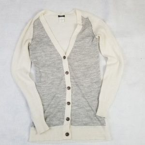 J. CREW Women's XS Alpaca button up white cardigan